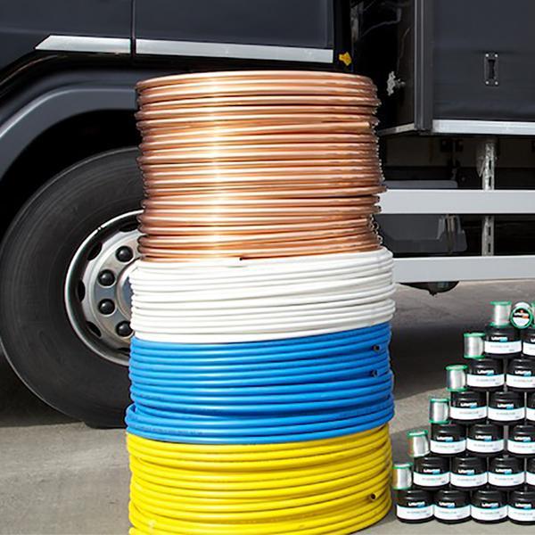 Copper Pipe Tube Coil Underground 25 Metre Pvc